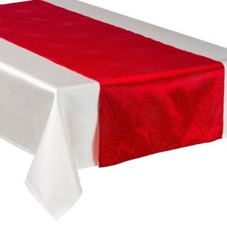 Chemin de table - 40 x 140 cm. - Rouge