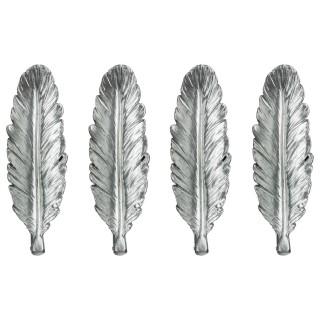 4 Portes couteaux plume - Argent
