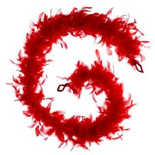 Guirlande de Noël boa Plume - Rouge