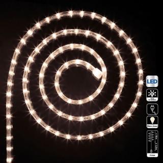 Guirlande tube LED d'extérieur - 18 m. - Blanc chaud