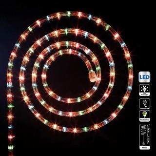 Guirlande tube LED d'extérieur - 24 m. - Multicolore