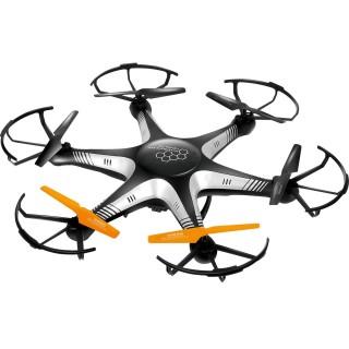 Drone 6 hélices télécommandé avec caméra - Noir