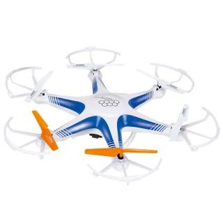 Drone 6 hélices télécommandé avec caméra - Blanc