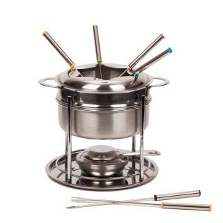Service à fondue - 6 Personnes - Acier inox