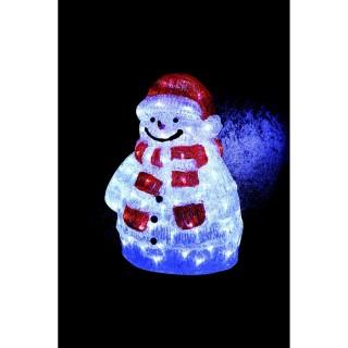 Décoration de Noël d'extérieur Lumineuse - H. 45 cm - Bonhomme de neige