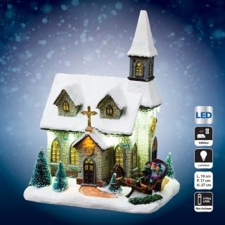 Village de Noël lumineux - Eglise