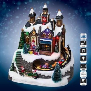Village de Noël lumineux, musical et animé - Atelier