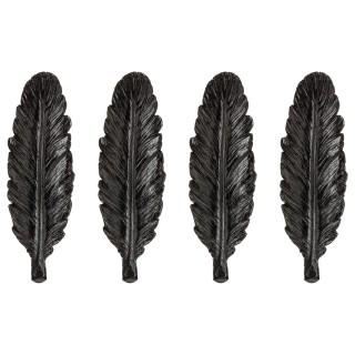 4 Portes couteaux plume - Noir