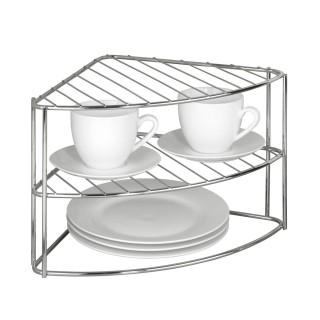 Etagère d'angle pour vaisselle