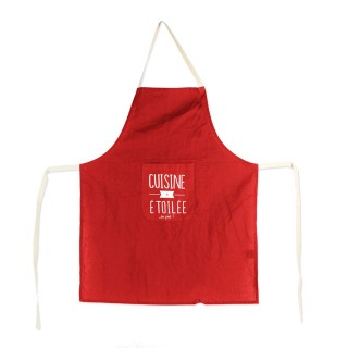 Tablier de cuisine Mots - Rouge