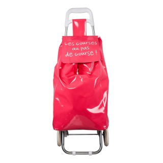 Chariot shopping Mots - Rouge
