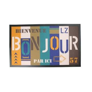 Tapis d'entrée - 45 x 75 cm - Bonjour