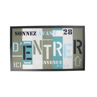 Tapis d'entrée - 45 x 75 cm - Sonnez avant d'entrer