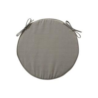 Galette de chaise ronde - Diam. 42 cm - Cendré