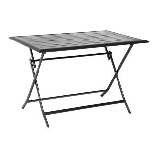 Table pliante rectangulaire Azua - 4 Places - Noir
