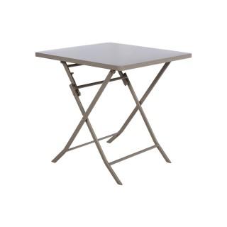 Table pliante carrée Greensboro - 2 Places - Taupe