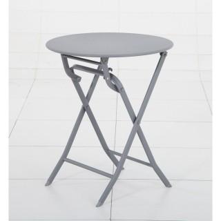 Table pliante ronde Greensboro - 2 Places - Ardoise