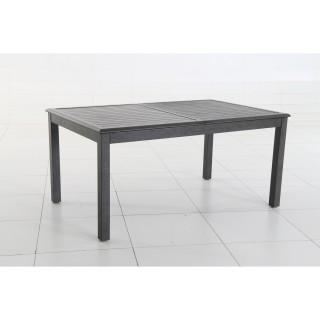 Table extensible rectangulaire Azua - 10 Places - Noir effet bois