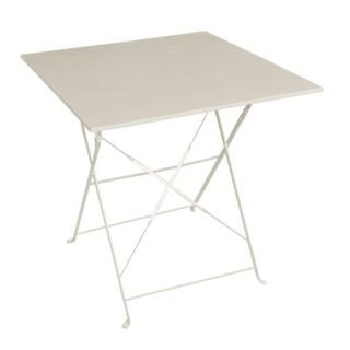 Table pliante carrée Camargue - 2 Places - Taupe