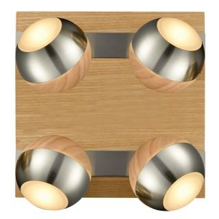Spot Verus - 22 x 22 cm - Bois, acier, chrome