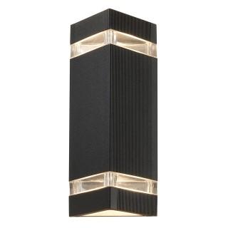 Lampe extérieur Esterna - 11 x 10,5 x 23 cm - Aluminium et verre laqué en noir