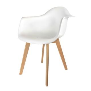 Fauteuil Scandinave Mobiliers Design - Blanc