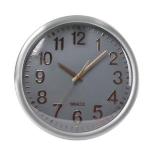 Horloge ronde Accessoires Maison - Diam. 35 cm - Gris et cuivre