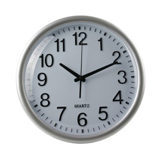 Horloge ronde Accessoires Maison - Diam. 35 cm - Argent et Noir