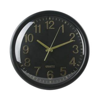 Horloge ronde Accessoires Maison - Diam. 35 cm - Noir et Or