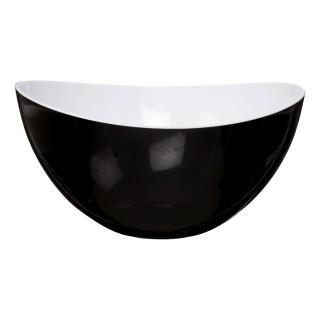 Saladier en plastique - Courbes design - Bicolore Noir