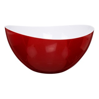 Saladier en plastique - Courbes design - Bicolore Rouge