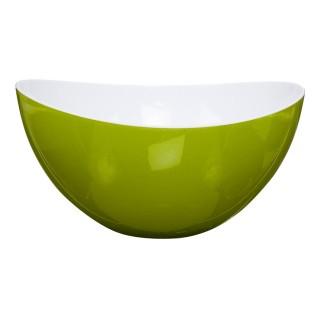 Saladier en plastique - Courbes design - Bicolore Vert