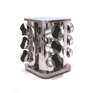Carrousel à épices Bistrot - 9 pots - Verre transparent