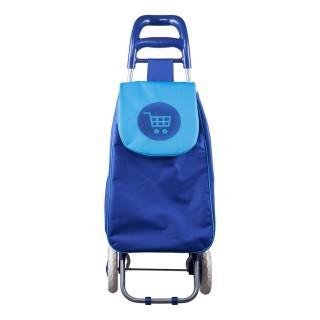 Chariot shopping 2 roues - Bleu