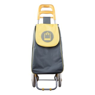 Chariot shopping 2 roues - Jaune