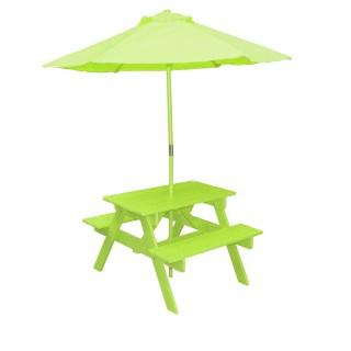 Table pic-nique avec parasol Poupon - Anis