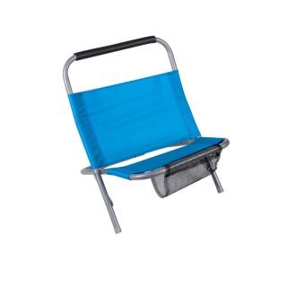 Cale dos de plage avec filet Sunny - Turquoise