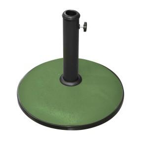Pied de parasol en ciment - 15 kg - Vert