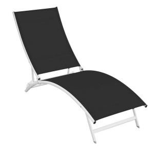 Chaise longue Catania - Noir
