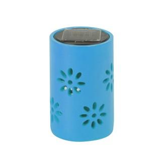 Lanterne solaire - Motifs fleuris - Bleu