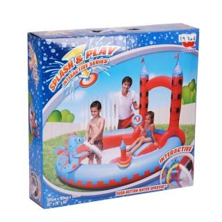 Jeu aquatique gonflable pour enfant - Chateau - Multicolore