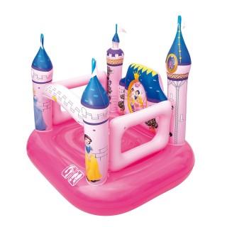 Château gonflable - Princesse Disney - Rose