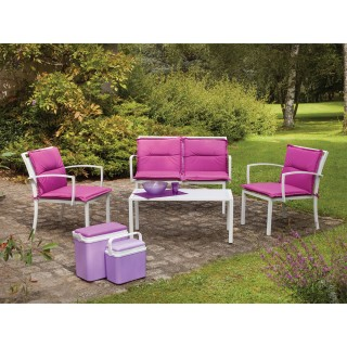 Salon de jardin Mapya - 4 places - Fuchsia