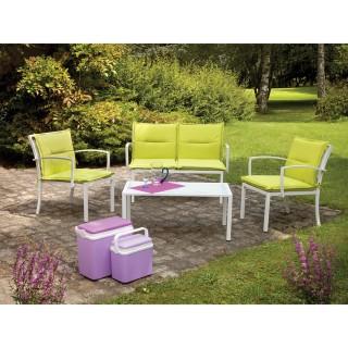 Salon de jardin Mapya - 4 places - Vert