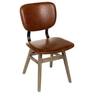 Chaise design Briak - Marron
