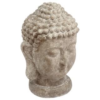 Statue tête de Bouddha - H. 40 cm - Ciment