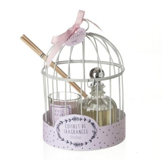 Coffret cage avec diffuseur 100 ml - Pivoine