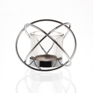 Photophore boule avec luminaire Cripton - Argent