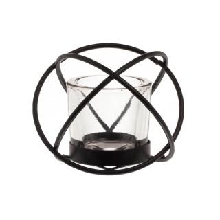 Photophore boule avec luminaire Cripton - Noir
