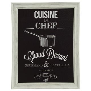 Cadre Chef - 40 x 50 cm - Casserole
